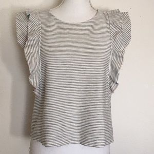 Anthropologie Postmark Striped Top XS